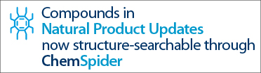 Compounds in Natural Products Updates now structure-searchable through ChemSpider