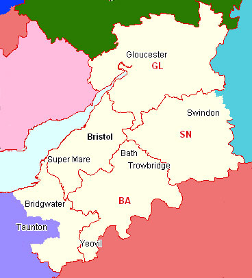 Bristol & District Section Map