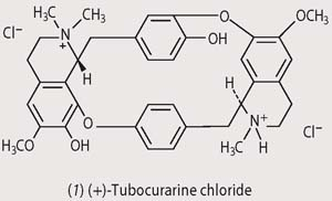 Chemical structure - tubocuranine chloride