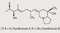 Chemical structures - pumiliotoxins A and B