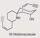 Chemical structure - histrionicotoxin