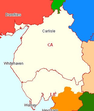 Cumbria Section map