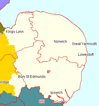 East Anglia Section map