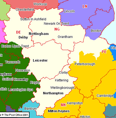 East Midlands Section Map