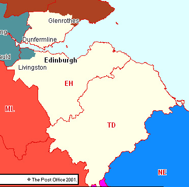 Edinburgh & SE Scotland Section Map