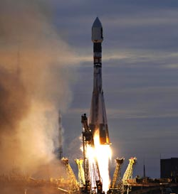 Launch of Venus Express from Baikonur Cosmodrome, Kazakhstan, in November 2005