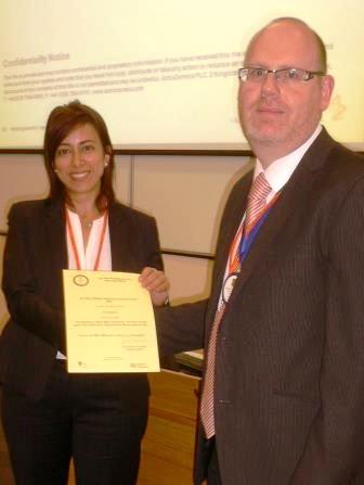 2014 winner was Amira Guirguis, University of Hertfordshire, Hatfield