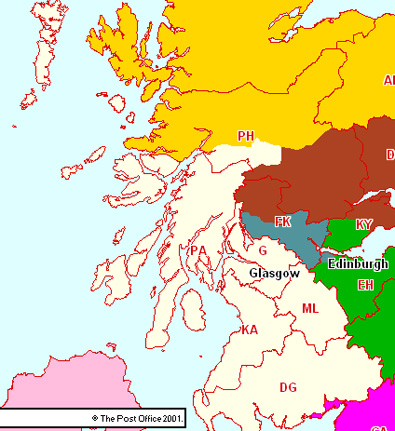 Glasgow & West Scotland Section Map