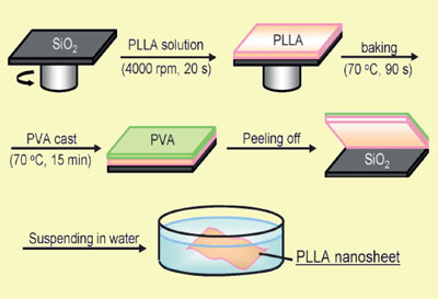 Fabrication of the healing nanosheet