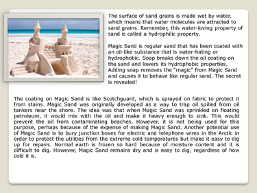 This is an example of the information page associated with each activity. This activity is about sandcastles.