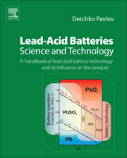 Book cover - Lead-acid batteries: science and technology