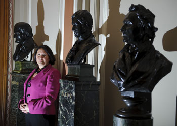 Lesley Yellowlees at Burlington House