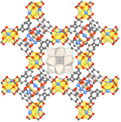 MOF polyoxometalate catalyst