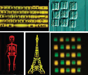 2D structures made using railed microfluidics