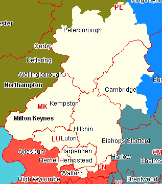Mid-Anglia Section Map