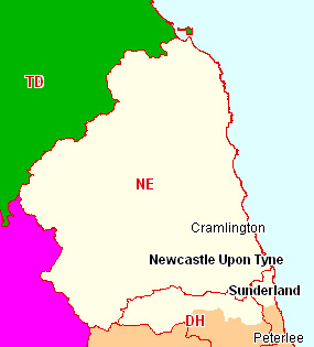Newcastle upon Tyne & NE Coast Section Map