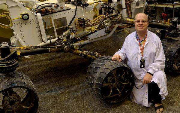 Paolo Belluta with the Curiosity Rover