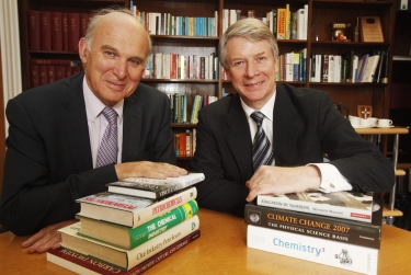Vince Cable, Liberal Democrat Treasury Spokesman and Richard Pike, RSC chief executive