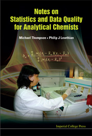Book cover - Notes on statistics and data quality for analytical chemists