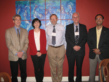 The RSC USA Executive Committee. (L-R) Les McQuire (Secretary & Webmaster), Lesley Davenport (Treasurer), Klaus Wagner (Immediate Past President), James Badger (President) and Kishore Bagga (Member-at-large)
