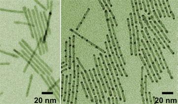 Stripy nanorods