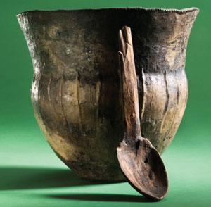 Ancient cooking pot