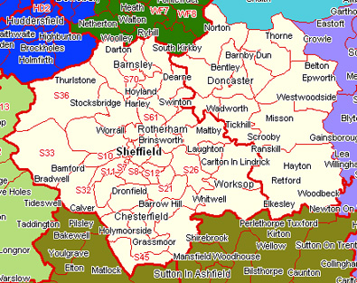 Sheffield Areas Map Sheffield and District
