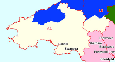 South Wales West Section Map
