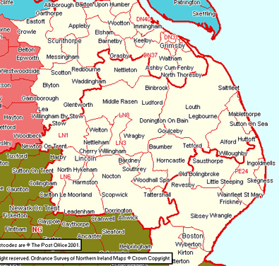 Southumbria Section Map