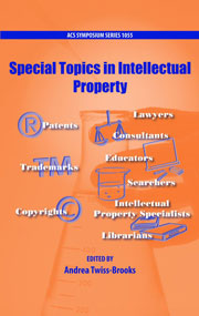 Book cover - Special topics in intellectual property