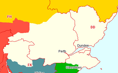 Tayside Section Map