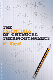 Book cover - The essentials of chemical thermodynamics
