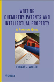 Book cover - Writing chemistry patents and intellectual property