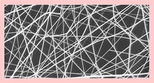 Nanofabric made from polymer fibres