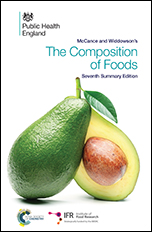 mccance and widdowson s tables of food Get free shipping on mccance and widdowson's the composition of foods by institute of food research, from worderycom mccance and widdowsons's the composition of foods, seventh summary edition provides a timely, authoritative and comprehensive update of the nutrient data for the most commonly consumed foods in the.