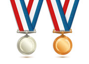 Bronze and silver medals