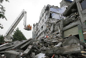 Buildings destroyed in Chinese earthquake