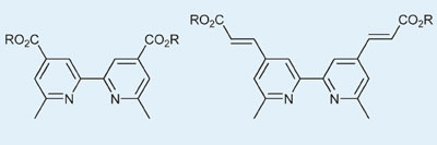 Structure of copper polypyridine complexes