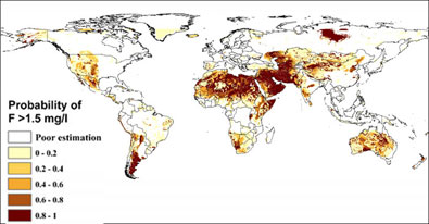 Global probability of geogenic flouride contamination in groundwater