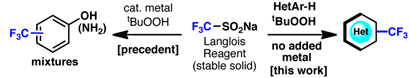 Trifluorination Langlois reagent