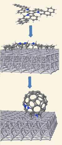 Fullerenes formed on a surface