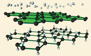 Graphene to graphane
