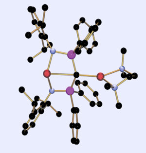Planar four-coordinate carbon