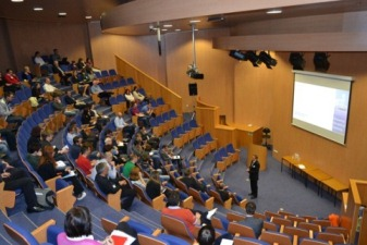 photo of the lecture theatre at the Macrocycles Symposium