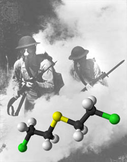 Mustard gas was used as a chemical weapon in the first world war