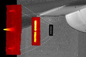 Laser nanoantenna