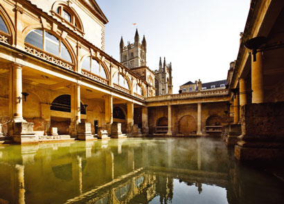 The Roman baths at Bath Abbey, UK