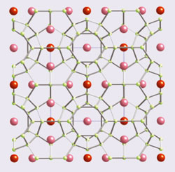 Crystal structure of a clathrate