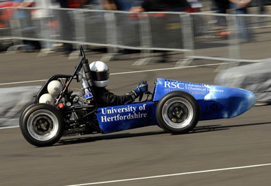 World's first hydrogen powered racing car, sponsored by RSC