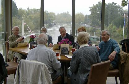 Retired Members enjoying lunch at Boulter's Lock